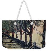 Horse And Fence Weekender Tote Bag