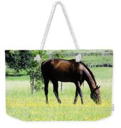 Horse And Flowers Weekender Tote Bag