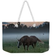Horse And Fog Weekender Tote Bag