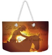 Horse And Rider Silhouette  Weekender Tote Bag