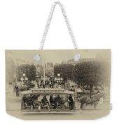 Horse And Trolley Main Street Disneyland Heirloom Weekender Tote Bag