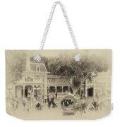 Horse And Trolley Turning Main Street Disneyland Heirloom Weekender Tote Bag