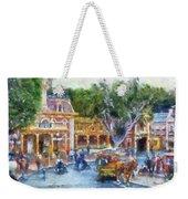 Horse And Trolley Turning Main Street Disneyland Photo Art 02 Weekender Tote Bag