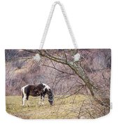 Horse And Winter Berries Weekender Tote Bag