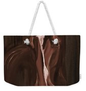 Horse Apple Warm Brown Weekender Tote Bag