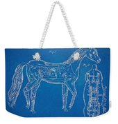 Horse Automatic Toy Patent Artwork 1867 Weekender Tote Bag by Nikki Marie Smith