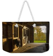 Horse Barn Sunset Weekender Tote Bag by Edward Fielding