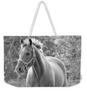 Horse Black And White Weekender Tote Bag