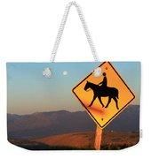 Horse Crossing Weekender Tote Bag