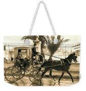 Horse Drawn Carriage Ride Weekender Tote Bag