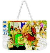 Horse Drawn Trolley Car Main Street Usa Weekender Tote Bag