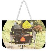 Horse Drawn Vechicles Round Weekender Tote Bag