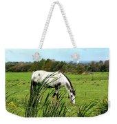 Horse Grazing In Field Weekender Tote Bag