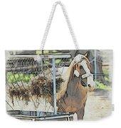 Horse N Hay Weekender Tote Bag