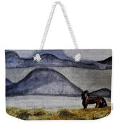 Horse Of The Mountains With Stained Glass Effect Weekender Tote Bag