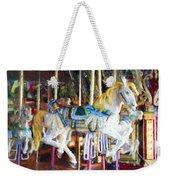Horse On Carousel Weekender Tote Bag