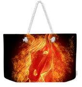 Horse On Fire  Weekender Tote Bag