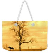 Horse On The Hill Weekender Tote Bag