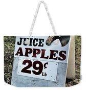 Horse Or Juice Apples Weekender Tote Bag