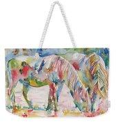 Horse Painting.27 Weekender Tote Bag