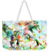 Horse Painting.36 Weekender Tote Bag