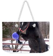 Horse Playing Ball Weekender Tote Bag
