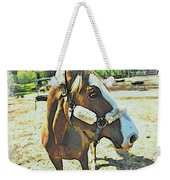 Horse Point Of View Weekender Tote Bag
