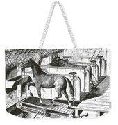Horse Powered Stall Cleaner, 1880 Weekender Tote Bag