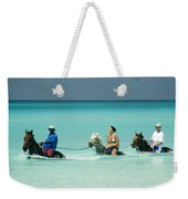 Horse Riders In The Surf Weekender Tote Bag