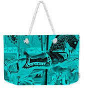Turquoise Horse E Weekender Tote Bag