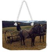 Horsedrawn Harvester Hay Rake On The Berta Ranch Carmel Valley California Circa 1950 Weekender Tote Bag