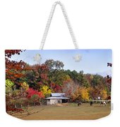 Horses And Barn In The Fall 2 Weekender Tote Bag