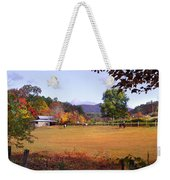 Horses And Barn In The Fall 4 Weekender Tote Bag