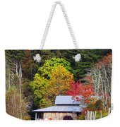 Horses And Barn In The Fall Weekender Tote Bag