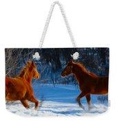 Horses At Play Weekender Tote Bag