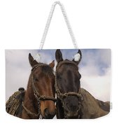 Horses  Belonging To Chagras Ecuador Weekender Tote Bag