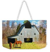 Horses Call This Old Barn Home Weekender Tote Bag
