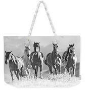 Horses Crest The Hill Weekender Tote Bag