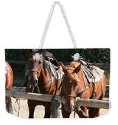 Horses Glacier National Park Montana Weekender Tote Bag