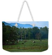 Horses Graze At Dawn Weekender Tote Bag