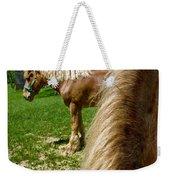 Horses In Meadow Weekender Tote Bag