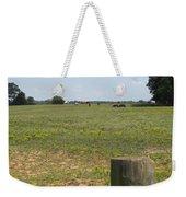 Horses In The Field Weekender Tote Bag