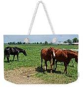 Horses In The Pasture Weekender Tote Bag