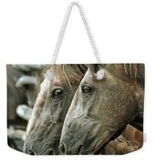 Horses Looking Through The Fence Weekender Tote Bag