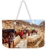 Horses Of Petra Weekender Tote Bag