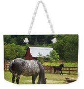 Horses On A Farm Weekender Tote Bag