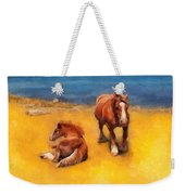 Horses On The Coast Of Brittany Weekender Tote Bag