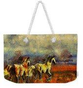 Horses On The Gogh Weekender Tote Bag