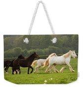 Horses On The Meadow Weekender Tote Bag