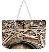 Horseshoe On Barn Floor Weekender Tote Bag